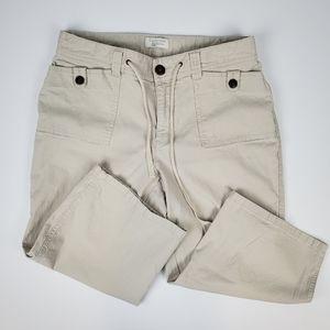 Christopher & Banks Light Tan Capri Pants